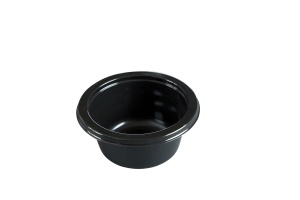 This is a CPET bowl available in black which can be used in the oven (dual ovenable) or the microwave.