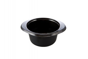 This tray is a CPET circular tray. It is can be used in the microwave and the oven up to 400 degrees.