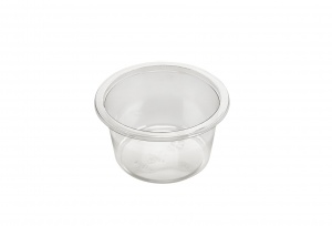 This is a bowl made of APET material. It is commonly used for cold foods and snacks.