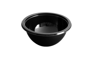 This CPET bowl is ideal for soups, chilis, etc..  CPET bowls can be reheated in the microwave or a conventional oven.