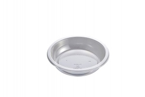 This is a bowl that is made of APET material. It is used for cold foods and snacks.