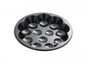 This CPET tray is environmentally friendly. It goes in the oven and microwave.