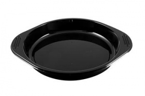 A Circular CPET Tray with handles.