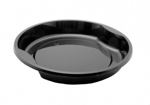 This tray is a CPET tray. It is environmentally friendly and can go in the microwave and the oven up to 400 degrees.