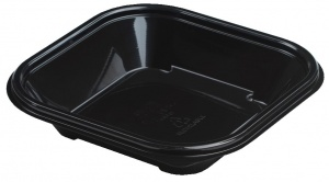 This is a APET tray made for cold food and snacks. You cannot put this in the microwave or oven.