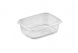 A larger version of the 20-125 Tray, the APET meal tray is a crystal clear disposable food container pour your food packaging needs. Meal prep and meal packaging has never been this easy!