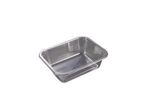 This is a tray which is made with APET material. It is commonly used for cold foods and snacks.