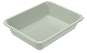 The 2227-1D Evolve tray is the ideal tray for customers looking for an option to compostable trays but with the performance of CPET.
