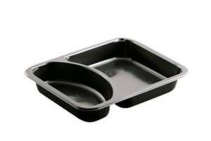 CPET Food Tray 2237-2A is an oven safe, microwavable To Go meal Container perfect for meal prep packaging. If you are looking for where to buy food packaging supplies, CiMa-Pak is the place to go!<br />