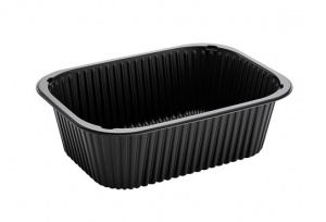 This is a Food Service sized PP tray in Black.