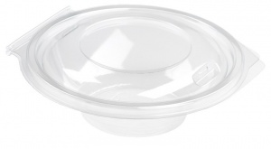 This is an APET bowl with a lid. It has a volume of 250ml and is not microwavable.