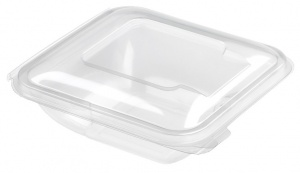 This is an APET tray that is made for cold foods and snacks.