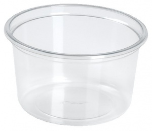 This is an APET bowl made for cold foods and snacks.