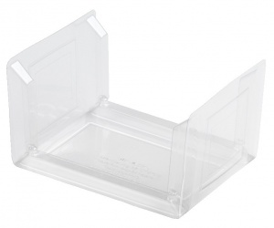 This is an APET tray made for cold foods and snacks.