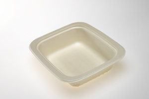 Our OK4 Series trays are 100% compostable.  The OK42160-1F is a one compartment which is ideal for airline meals, school cafeteria and institutional kitchens.