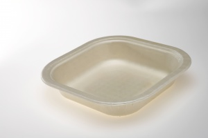 Our OK4 Series trays are 100% compostable.  The OK42160-1K is a one compartment which is ideal for airline meals, school cafeteria and institutional kitchens.