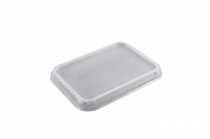 The 5187 Lid is used with any of our CPET 2187 Series trays which is our midsized tray.  These trays are ideal for smaller portion meals, lunch size meals, meals for diet conscious customers, etc..