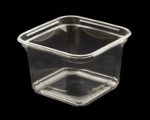 This shows our 16 oz. clear APET container for soft cheeses, hummus,, coleslaw and fresh cut veggies.