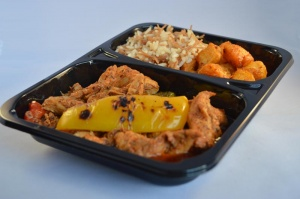 CPET Food Trays for ready meals where ovenable or a microwavable tray can be used.