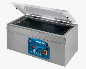 Our tabletop vacuum chamber is a stainless steel machine designed for long items such as fish.