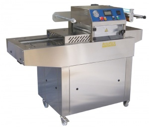 This is our Easy Tray Sealer which is available with or without vacuum and gas.