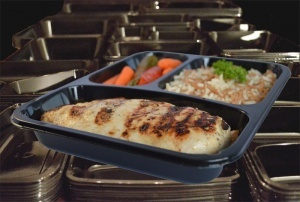 CPET Plastc Food Tray for Ready Meals