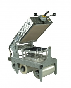 This is a picture of our Model III Tray Sealer for CPET and APET trays.