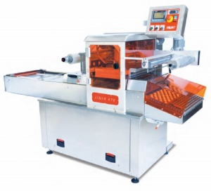 This is our biggest skin packaging machines for large amounts of trays. This food sealing machine can also be used in sealing only modes or as a modified atmosphere packaging machine (MAP packaging, meal vacuum packaging).