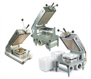 This shows 3 tray sealers for the section picture.  All can be used to seal CPET and APET trays.