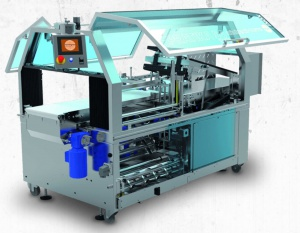 Stainless Steel automatic wrapping machine.