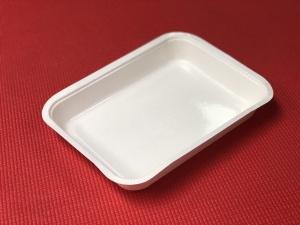 <br /> Il s'agit d'une barquette en matériel compostable. Il est couramment utilisé pour l'emballage durable des fruits et légumes.