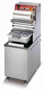 This is the ideal tray sealer, with vacuum and gas for take away meal trays.