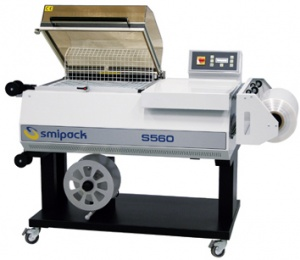 S560 is a shrink wrapper for packaging small to medium sized products.