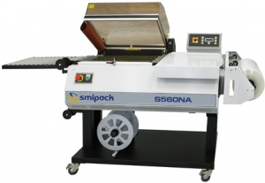 S560NA is a one-step, automatic shrink wrapper ideal for packaging small to medium-sized products.