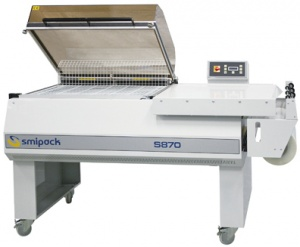 S870 is a one-step shrink wrapper for medium-sized products.