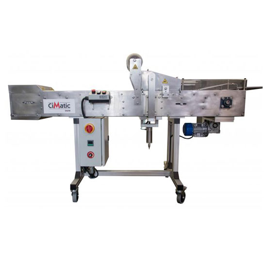 Automatic tray sealer for 20+ food trays per minute. Seal CPET oven safe plastic food containers